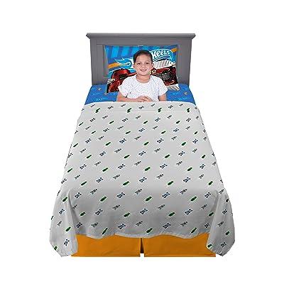 Franco Kids Bedding Super Soft Sheet Set, 3 Piece Twin Size, Hot Wheels: Home & Kitchen
