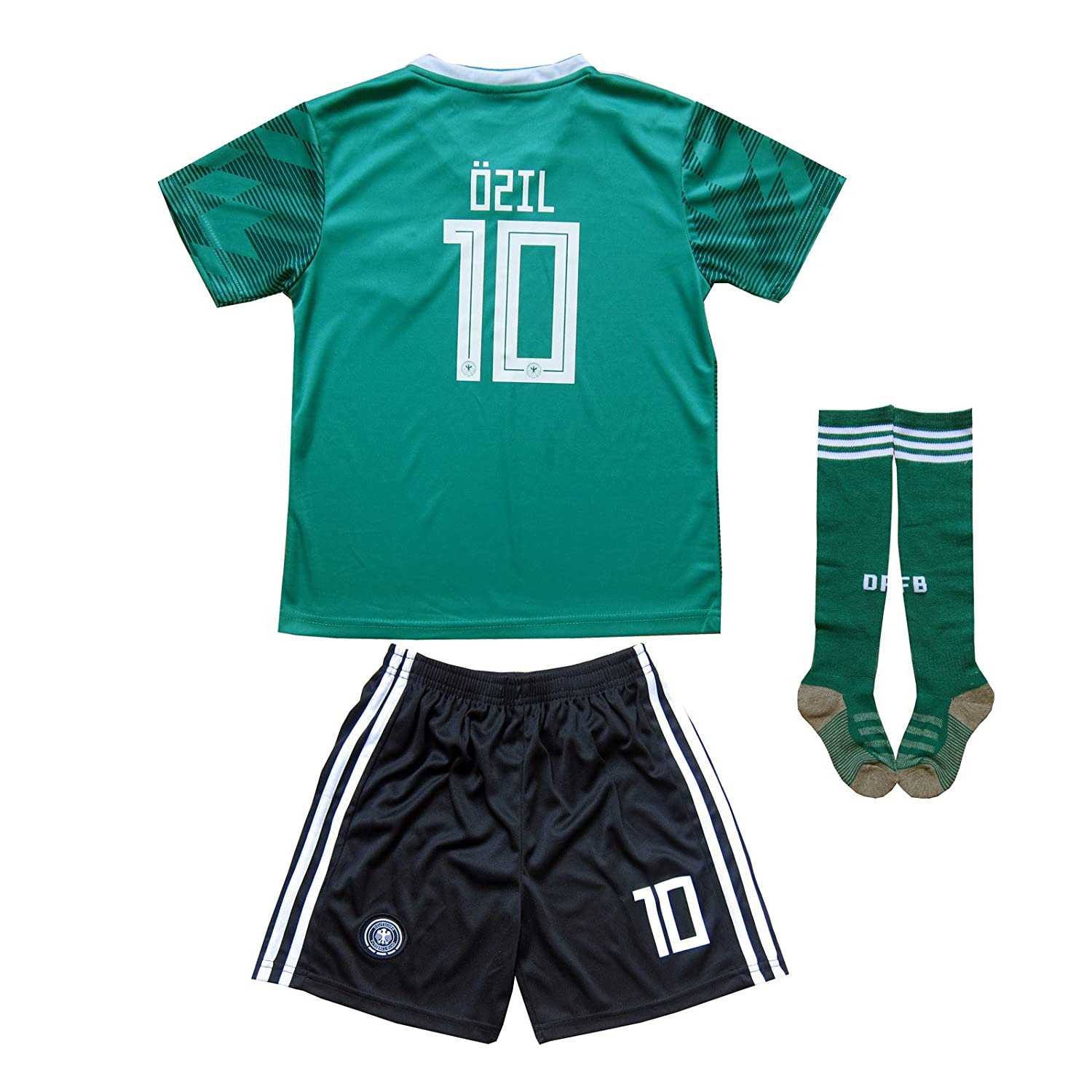 Kid Box 2018ドイツMesut Ozil # 10 Home Away Soccer Kids Jersey & Short Socks Setユースサイズ B07BVQRG9M 13-14 YEARS|Away Away 13-14 YEARS