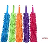 RACHEES Cleaning Brush Feather Microfiber Duster Magic Dust Cleaner Fit (Multicolour, Medium)