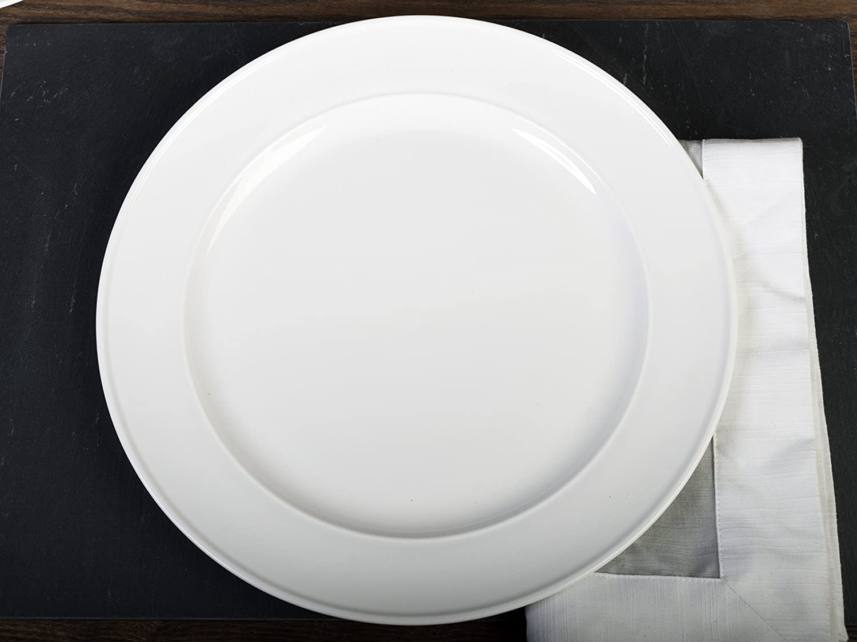 Porcelana vitrificada MIKASA Plato para guarnici/ón Color Blanco