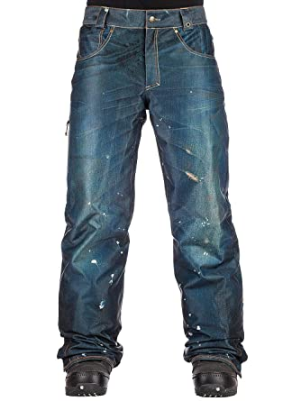 Amazon 686 Deconstructed Insulated Denim Snowboard Pants Mens Clothing