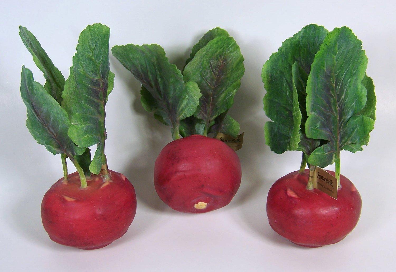Designer-Decorative-One-Artificial-Faux-Fake-Red-Kohlrabi-Vegetable