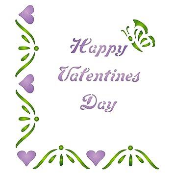 """Día de San Valentín diseño de mariposa (tamaño 3,25 """"W x"""