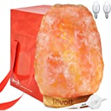 Levoit Salt Lamp, Himalayan / Hymilain Sea Salt Lamps, Pink Crystal Large Salt Rock Lamp, Night Light, Real Rubber Wood Base, Dimmable Touch Switch, Luxury Gift Box(UL-Listed, 2 Extra Original Bulbs)