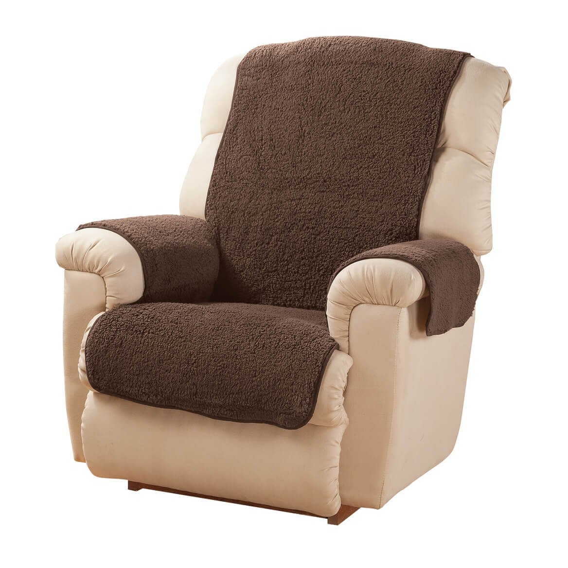 Sherpa Recliner Protector by OakRidgeTM, Chocolate 340461