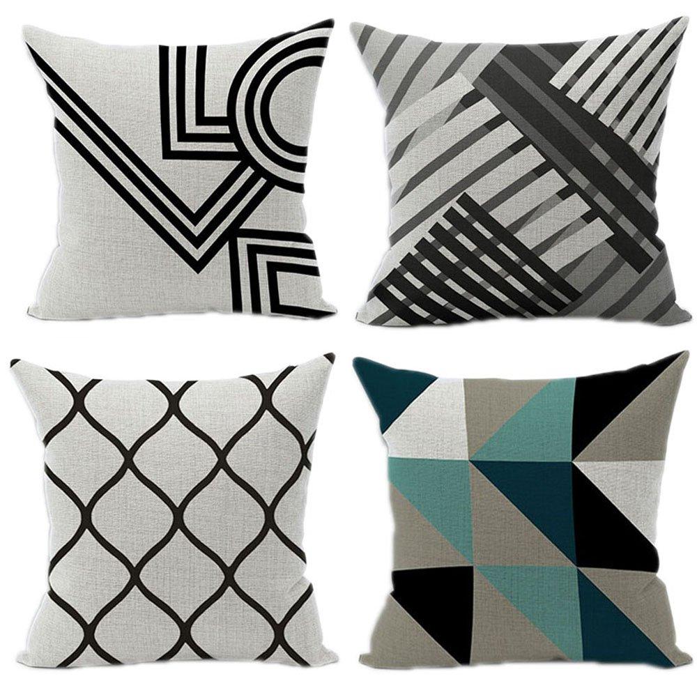 Wood Bury Throw Pillow Case Cushion Cover Decorative Pillowcase Square 18 x 18 Inches 4 Set