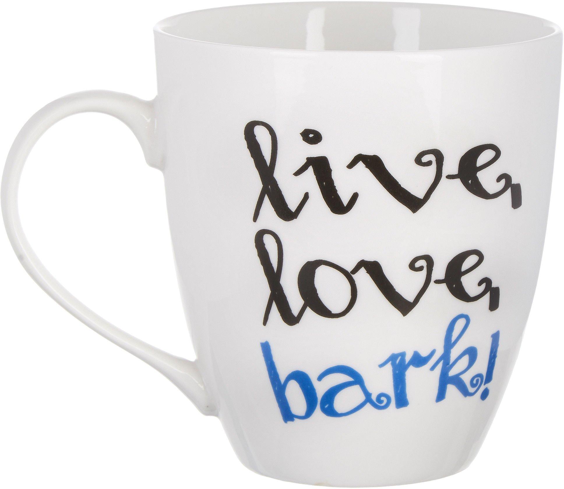 Pfaltzgraff Live Love Bark Dog Lover Coffee Mug 18 Ounce - White