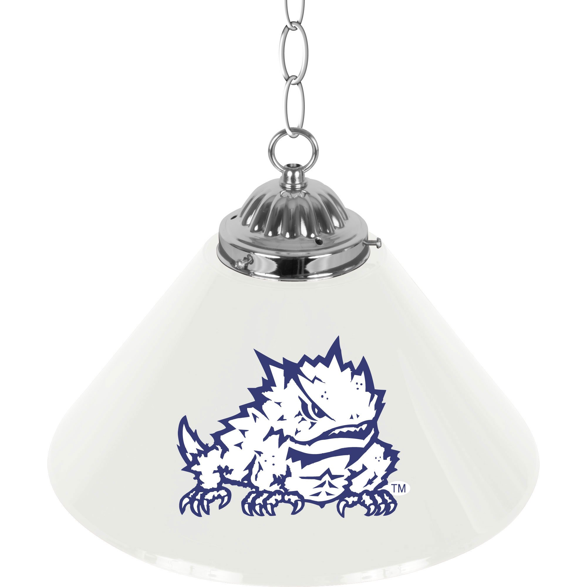 NCAA Texas Christian University Single Shade Gameroom Lamp, 14''