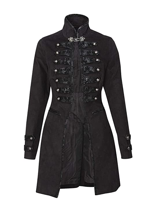 Steampunk Jacket | Steampunk Coat, Overcoat, Cape Womens Black Victorian Steampunk Gothic Military Coat $79.90 AT vintagedancer.com