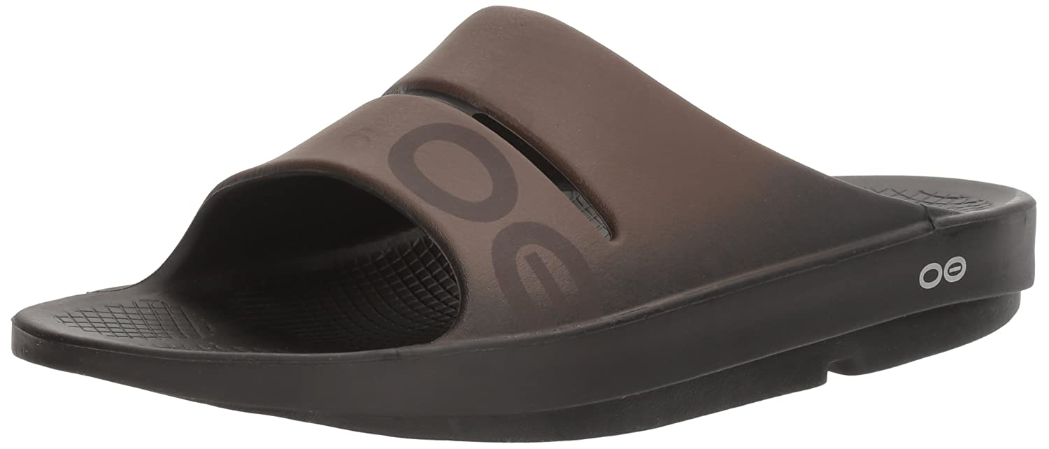 OOFOS Unisex OOahh Sport Slide Sandal B01L9XP1X2 9 B(M) US Women / 7 D(M) US Men|Black/Brown