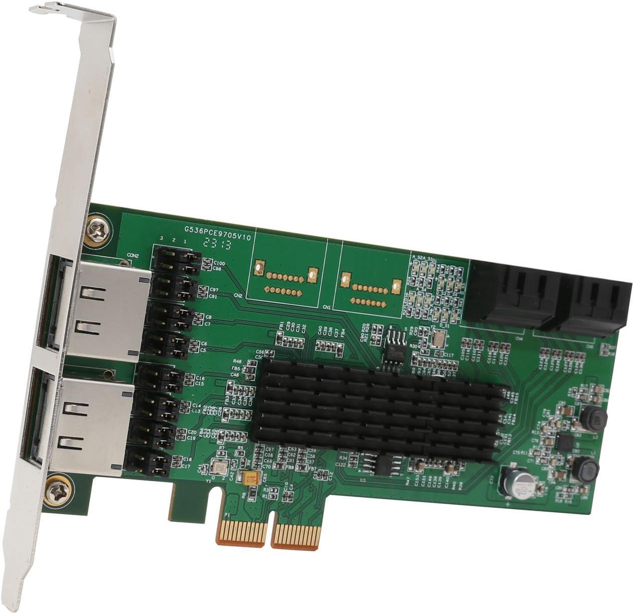 IO Crest 4-port SATA III PCIe 2.0 x2 Controller Card Green SI-PEX40072