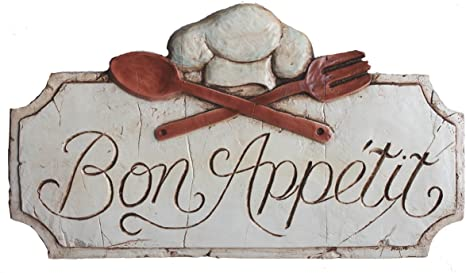 Bon Appetit French Kitchen Food Chef Aged Metal Sign