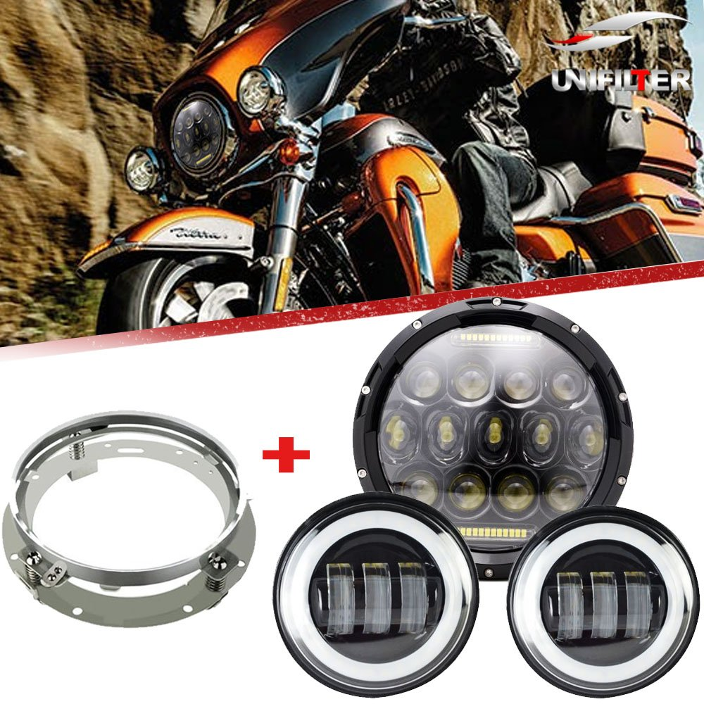 7 daymaker 75w led headlight with 4 5 inch fog lights for. Black Bedroom Furniture Sets. Home Design Ideas