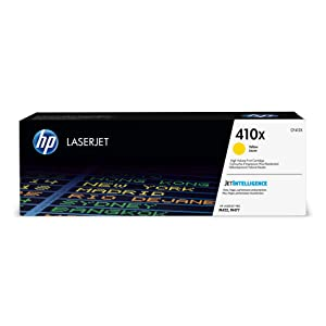 HP 410X (CF412X) Toner Cartridge, Yellow High Yield for HP Color LaserJet Pro M452dn M452dw M452nw MFP M377dw MFP M477fdn MFP M477fdw MFP M477fnw
