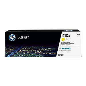 HP 410X (CF412X) Toner Cartridge, Yellow High Yield for HP Color LaserJet Pro M452dn M452dw M452nw MFP M377dw MFP M477fdn MFP M477fdw MFP M477fnw