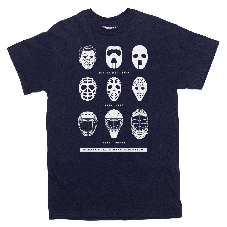 Amazon Rocket Factory Hockey Goalie Mask Evolution T shirt