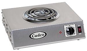 Cadco CSR-1T Countertop Single 120-Volt Hot Plate