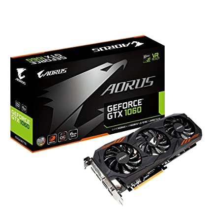 Gigabyte GV-N1060AORUS-6GD Rev 2.0 GeForce GTX 1060 6GB GDDR5 - Tarjeta gráfica (GeForce GTX 1060, 6 GB, GDDR5, 192 bit, 4096 x 2160 Pixeles, PCI ...