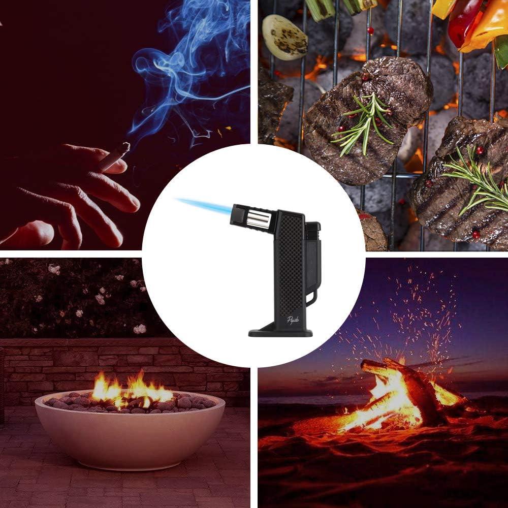 manualidades de bricolaje PIPITA Soplete,Cocina Antorcha Encendedor,Encendedor de butano recargable de llama ajustable,Perfecto para hornear gas no incluido cocinar asado a la parrilla y m/ás