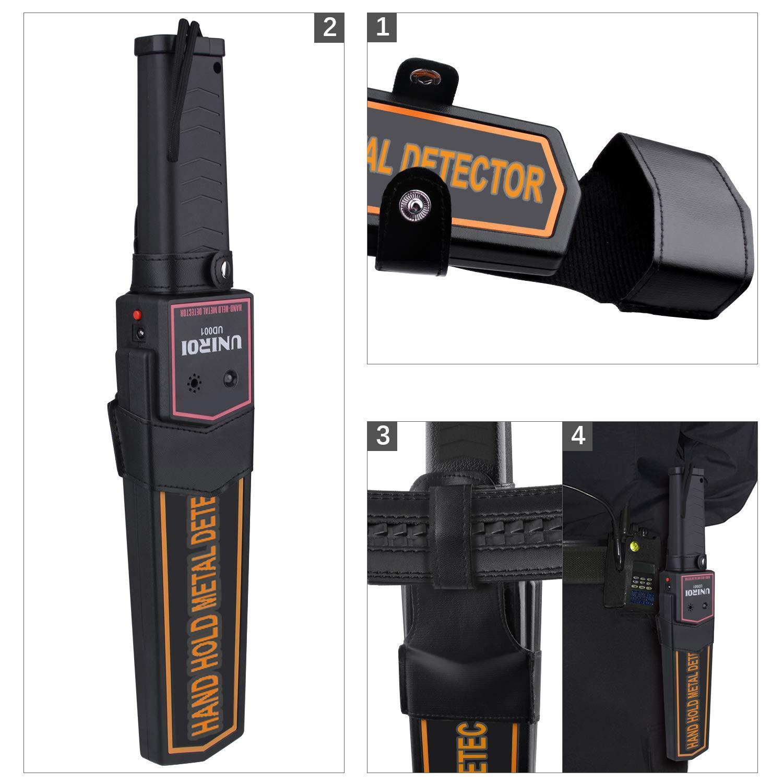... Cinturón,Sensibilidad Ajustable, Modos Opcionales de Sonido y Vibración para Entradad de Aeropuerto Puerto Escuela Frontera (UD001): Amazon.es: Jardín