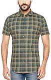 True United Men's Cotton Checks Half Sleeve Shirt