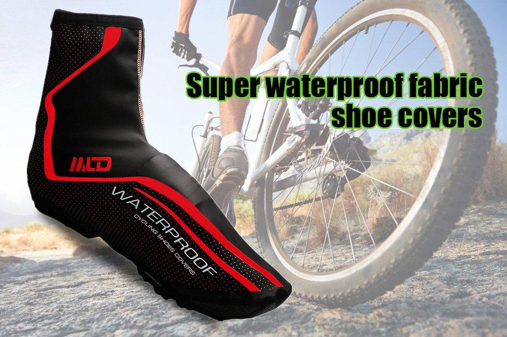 West Biking Cubrezapatos de ciclismo resistentes al agua (M/L, verde y rojo), RedL, M(Red)