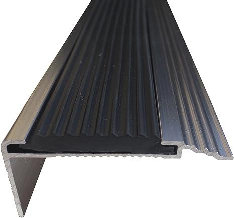 23 mm x 45 mm x 1,0 m Silber verschiedene Gr/ö/ßen Treppenkanten Winkelprofil Treppenwinkelprofil Treppenprofil Treppenstufenprofil