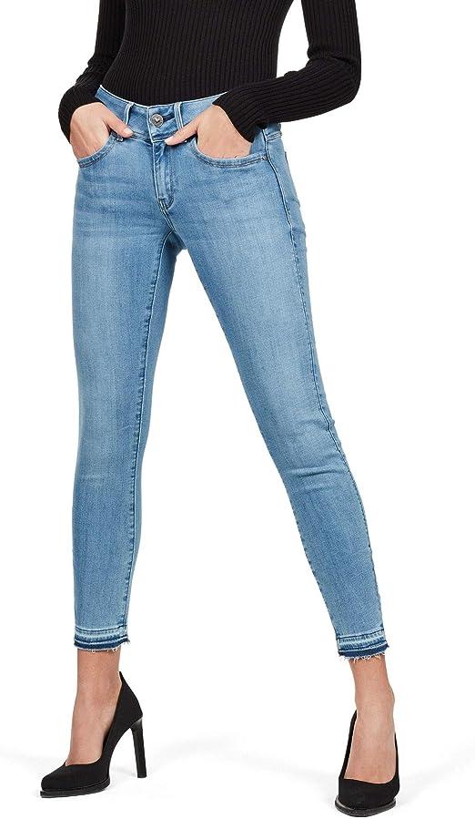 G STAR RAW Damen Lynn Mid Waist Skinny Ripped Ankle Jeans