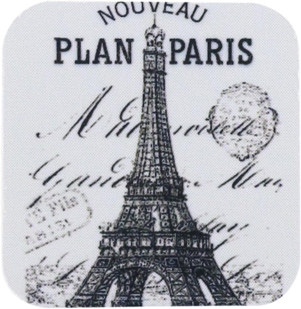 3dRose CST_110389_1 Nouveau Paris Vintage Eiffel Tower-Soft Coasters, Set of 4