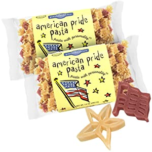Pastabilities American Pride Pasta, Fun Shaped Flag & Star Noodles for Kids and Holidays, Non-GMO Natural Wheat Pasta 14 oz (2 Pack)