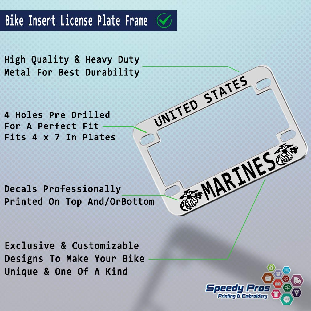 Speedy Pros Boobies Make Me Smile Motorcycle License Plate Frame