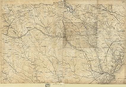 Map Of Georgia 1865.Amazon Com 1865 Map Of Part Of Georgia And South Carolina Of Part
