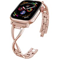 Deals on ImmSss Bling Metal Band Compatible for Apple Watch Band
