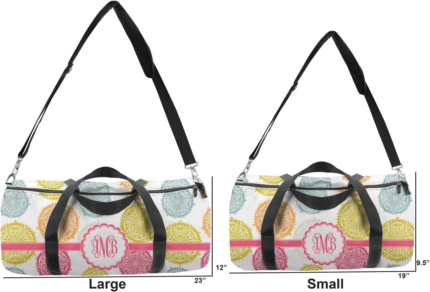 Personalized YouCustomizeIt Doily Pattern Duffel Bag