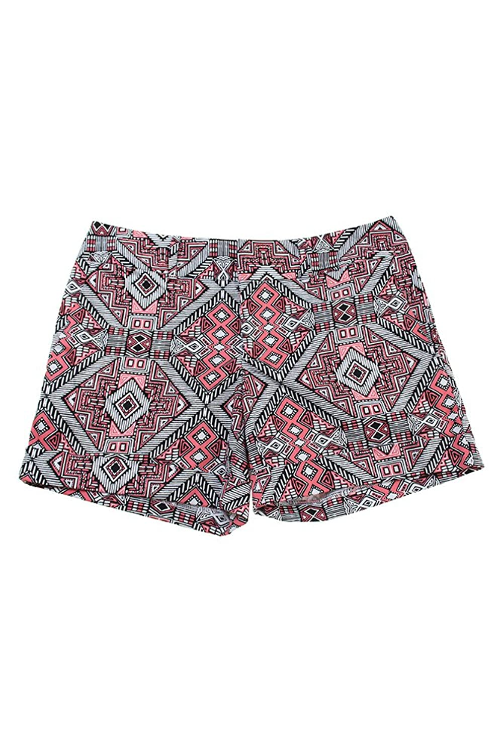 Inc International Concepts Pink Tribal Maze Printed Shorts