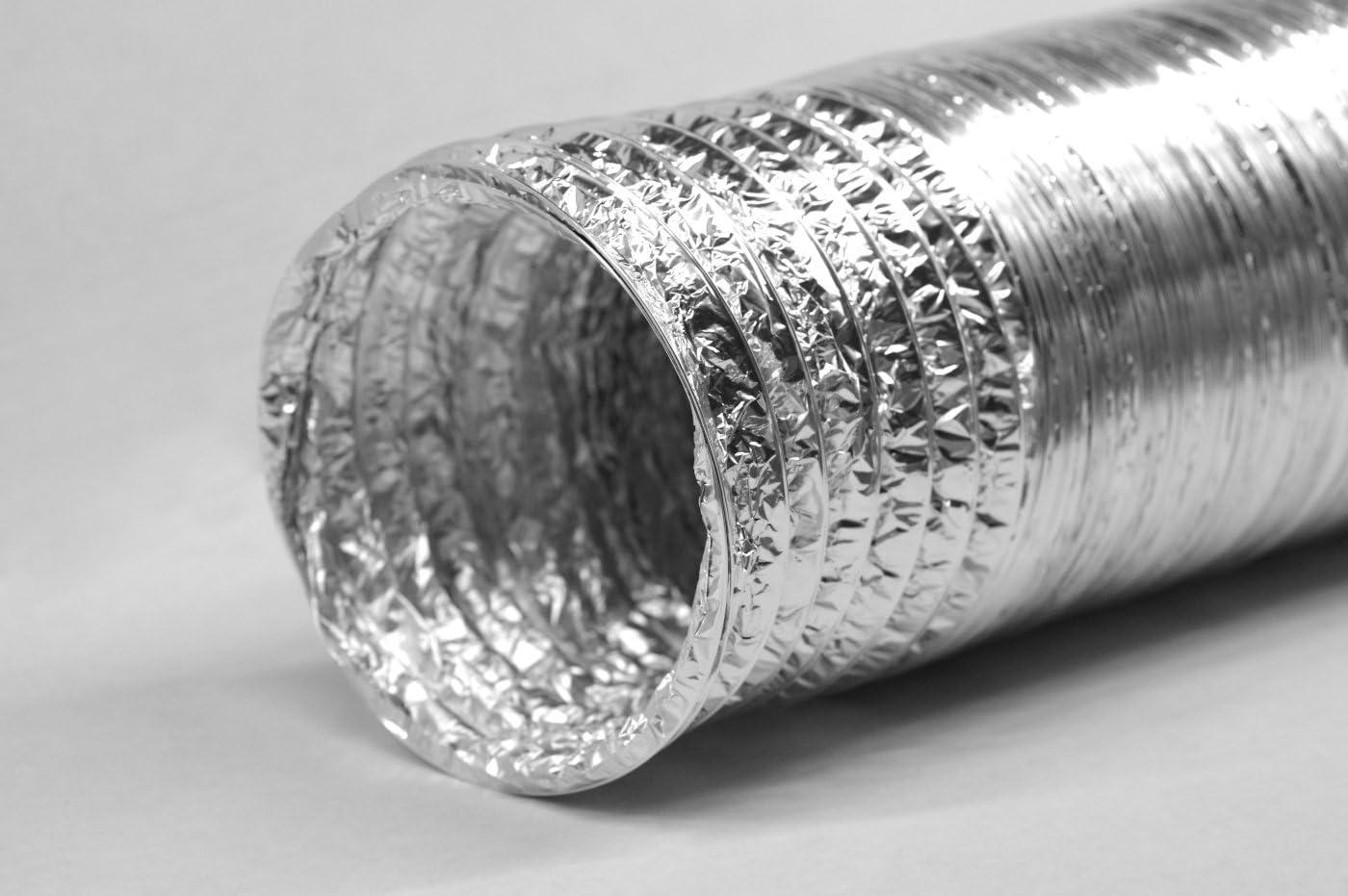 STERR 10 m Tuyau de conduit flexible en aluminium 125 mm ALD125/_10