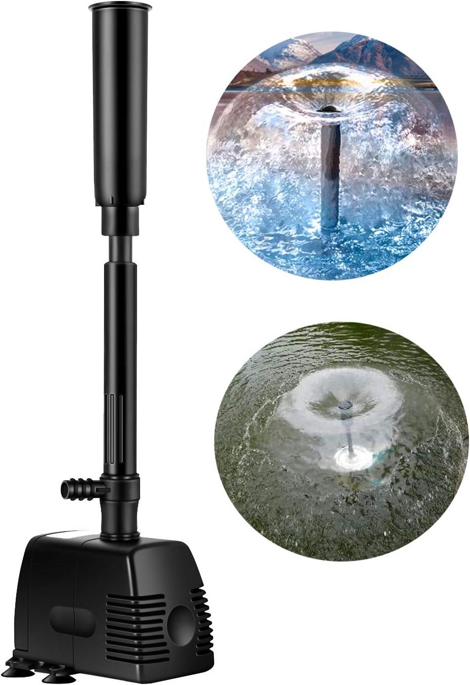 Springbrunnen Pumpe 15W 1500L//H1.6m Teichpumpe Tauchpumpe Wasserpumpe Fontäne tn