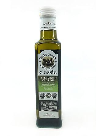 differently f75bd 59055 Classic Olivenöl Extra Nativ Glasflasche 0,2% kaltgepresst(250 ml) Cretan  Lyrakis