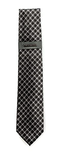 Grey Vince Camuto Men/'s Vintage Check Neck Tie in Black