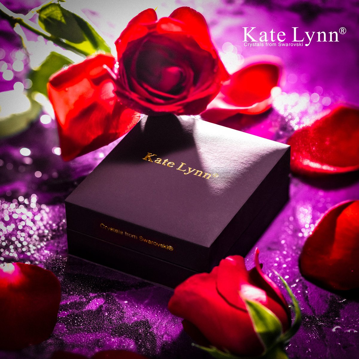 Chain Kate Lynn Bracelets for Women Jewelry Gift Womans ❤️Gifts for Her❤️ Made with Swarovski Crystals Bangle Bracelets with Gift Box Pendant Soft Cloth