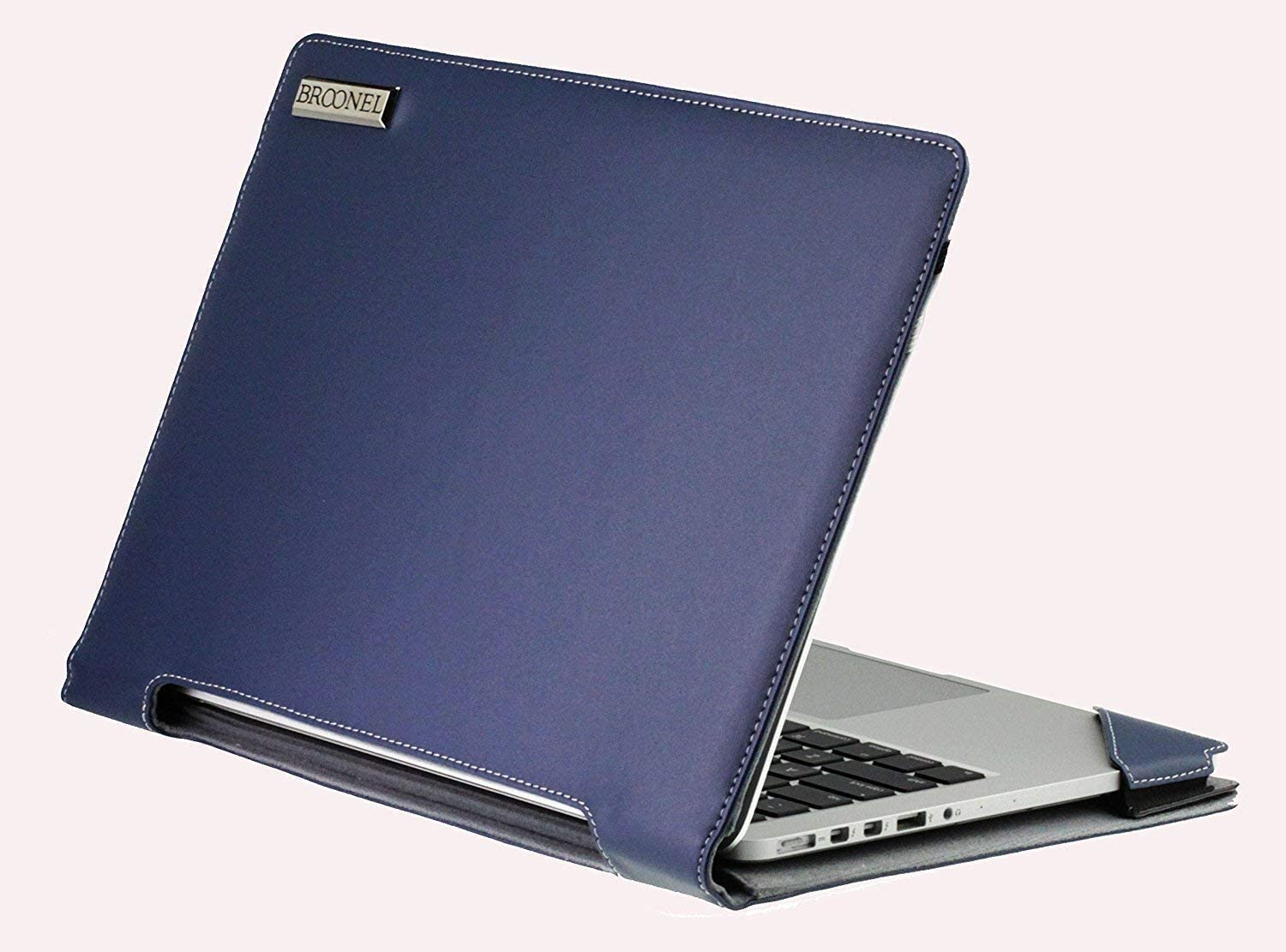 Profile Series Broonel Blue Leather Laptop Case Compatible with The Lenovo Ideapad S340 15.6 Inch