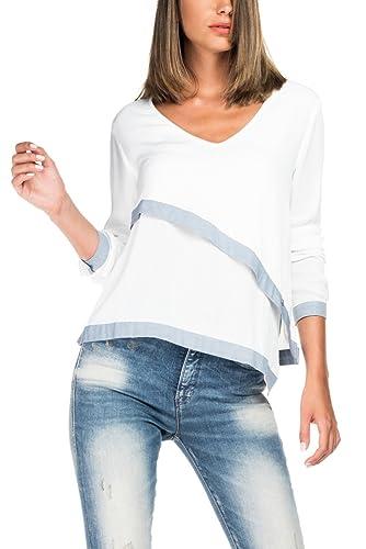 Salsa Plain Jersey con capas y Indigo detalle–Mujer