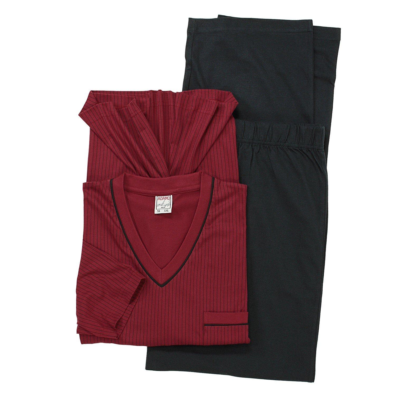 ADAMO Langer Schlafanzug in weinrot by by by Übergröße 10XL B00FN9T8GU Schlafanzüge Jahresendverkauf 00982f