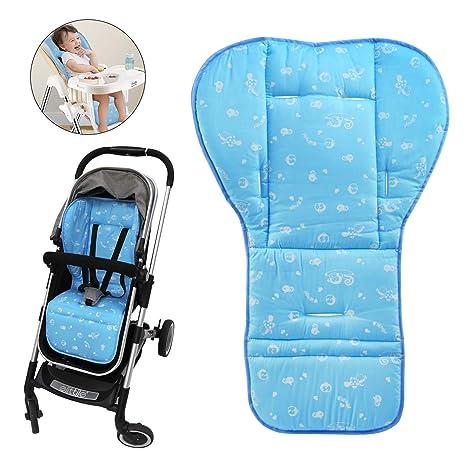 BelleStyle Colchonetas para silla de paseo, Universal Colchoneta Silla Colchoneta Suave Transpirable bebé algodón puro cochecito asiento maletero bebé ...