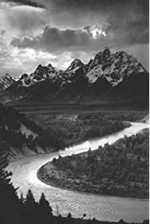 ansel adams tetons and the snake river journal notebook blank lined ruled for writing 6x9 110 pages
