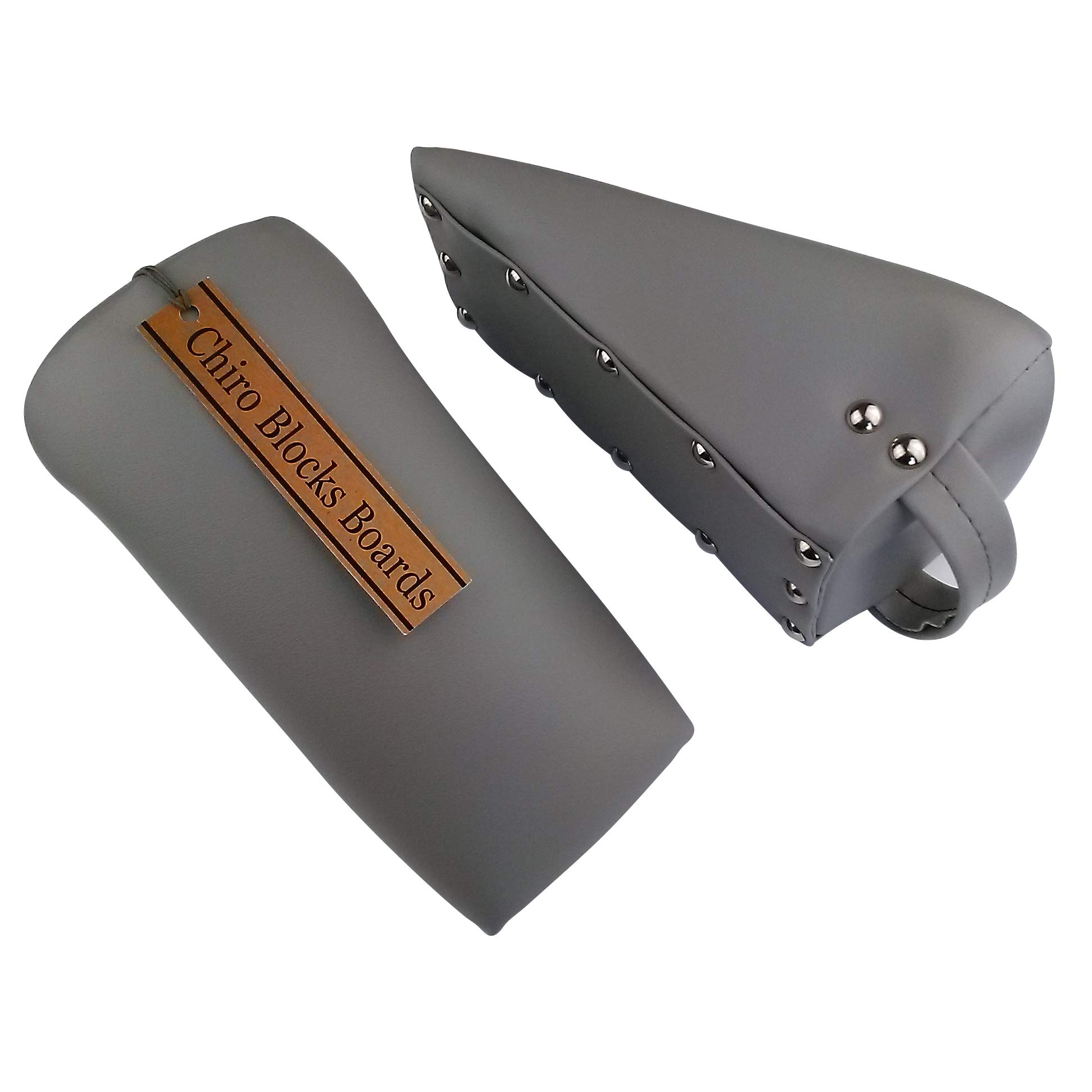 Chiro Blocks Boards - Professional Pelvic Sacral Blocks - 1 Pair Grey by Chiro Blocks Boards