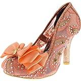 Womens Irregular Choice Ascot Glitter Metallic Court Shoes High Heels