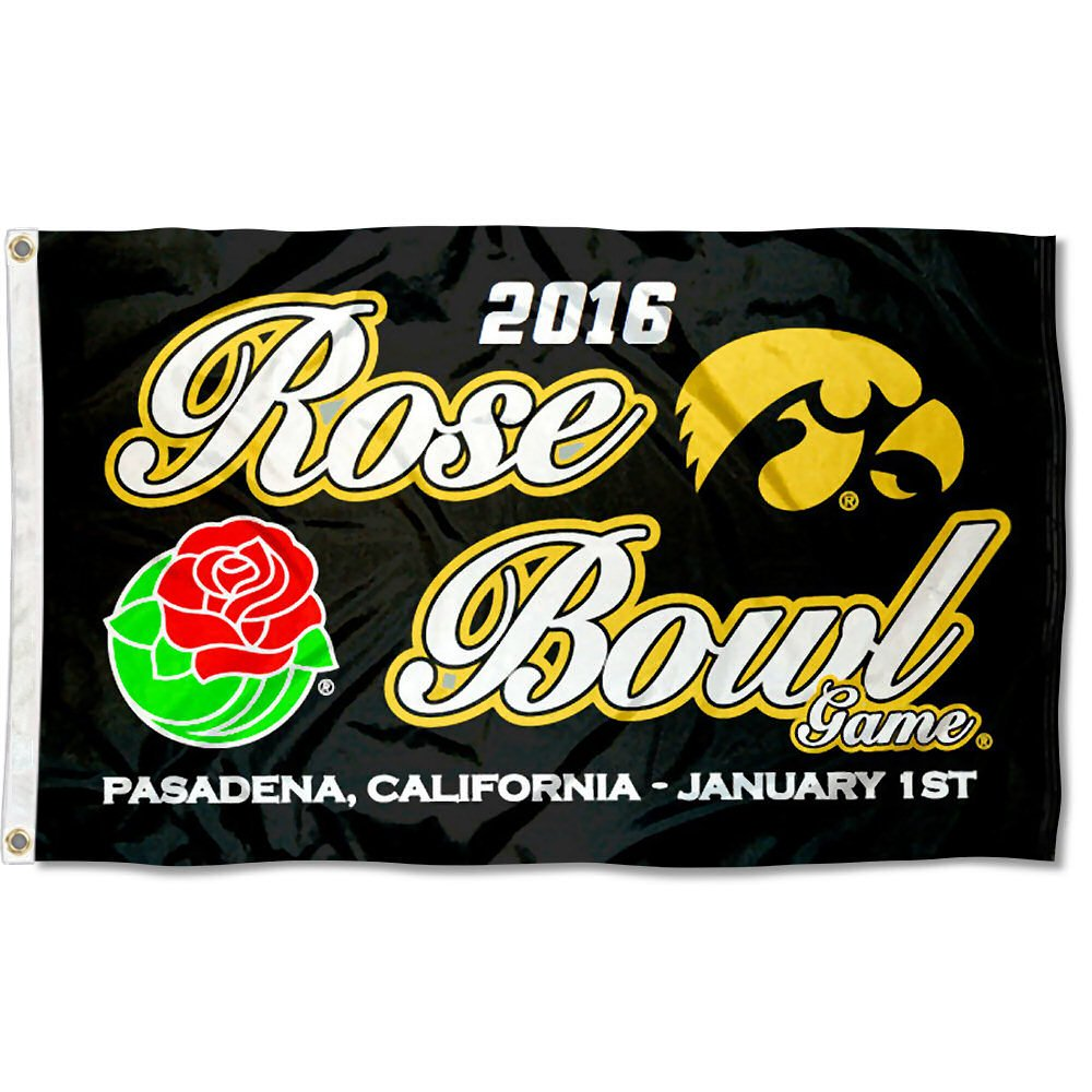 Iowa Hawkeyes 2015 Rose Bowl Flag College Flags and Banners Co