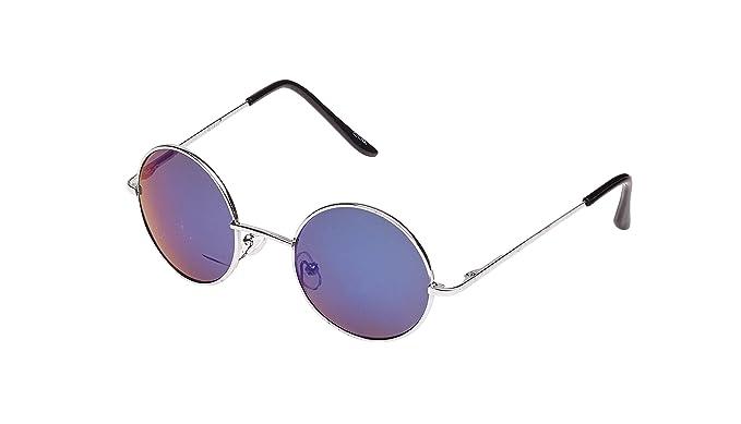 51b7962814 Gafas de sol, estilo Lennon, redondas, tamaño normal negro azul: Amazon.es:  Ropa y accesorios