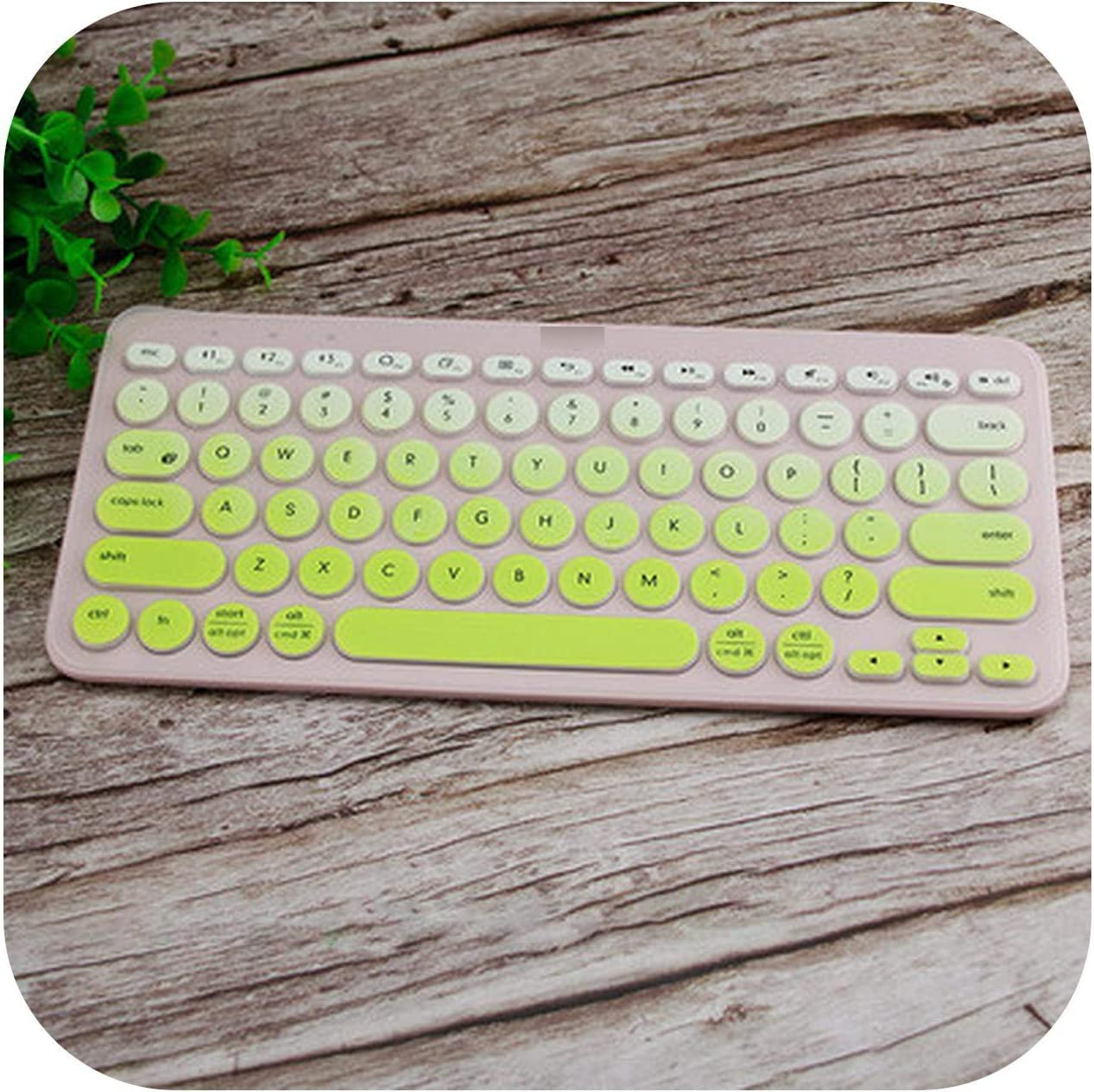 Soft Silicone Keyboard Cover Protective Film for Logitech K380 K 380 Bluetooth Keyboard Multi Device Mechanical Skin Protector-Gradual Green